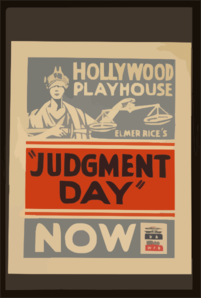 Elmer Rice S  Judgment Day  Clip Art