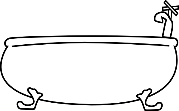 Bathtub Clip Art Black And White