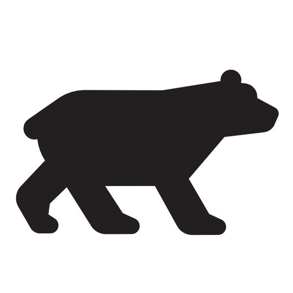 bear black clip art at clker com vector clip art online royalty rh clker com black bear clip art images black bear clip art images