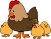 Hen With Chicks Clip Art