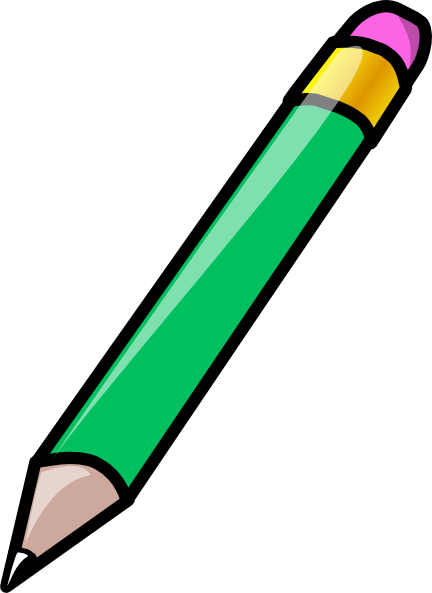 Pencil Green Clip Art at Clker.com - vector clip art online, royalty ...