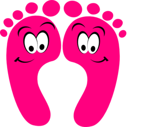 Pink Happy Feet Clip Art