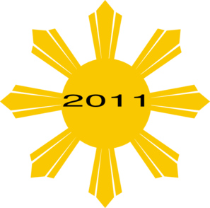 Philippine Sun With 2011 Date Clip Art