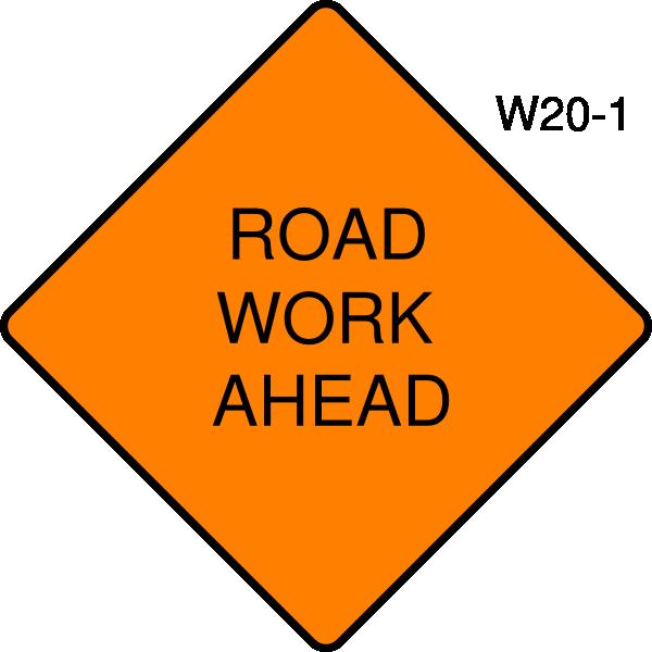 road work ahead sign clip art at clkercom vector clip