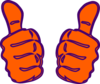 Two Thumbs Up, Purple, Blue Clip Art