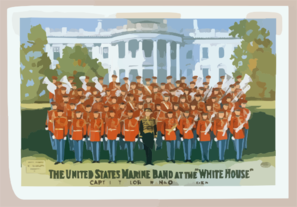 The United States Marine Band At The White House Clip Art