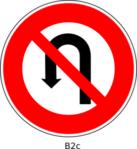 No U Turn Sign Clip Art