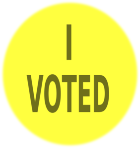 Yel Vote Sign Clip Art
