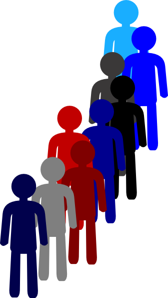 people in a line clip art at clker com vector clip art online rh clker com People Helping People Clip Art Waiting in Line Clip Art