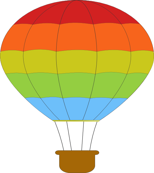 hot air balloon clip art at clker com vector clip art Painting Hot Air Balloon Outlines Hot Air Balloon Basket Bulletin