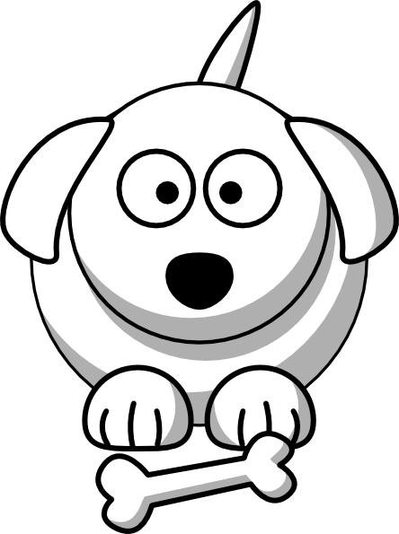 Cartoon Dog Outline Clip Art at Clkercom vector clip art online