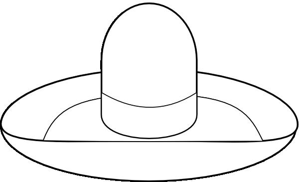 Sombrero Outline Clip Art At Clker Com Vector Clip Art Sombrero Coloring Page