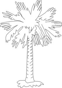 Palmetto Tree Clear Clip Art