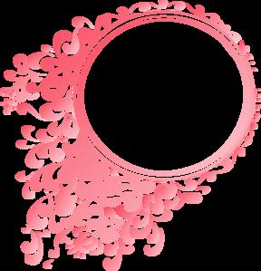 Pink Linear Gradient Round Border Clip Art At Clker Com