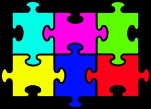 puzzle six pieces clip art at clker com vector clip art online rh clker com puzzle clip art powerpoint free puzzle clip art free