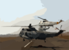 Several Uh-3h Sea King Helicopters Depart Montgomery Field Clip Art
