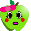 Shy Little Apple Clip Art