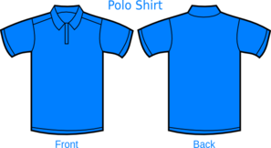 Light Blue Polo Shirt Clip Art