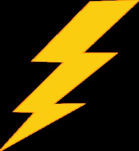 Thunder Bolt Plain Clip Art at Clker.com - vector clip art online ...