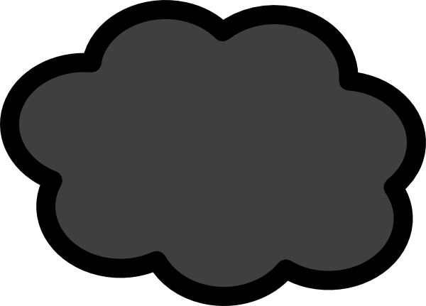 dark storm cloud clip art at clker com vector clip art online rh clker com storm cloud clipart Snow Cloud Clip Art