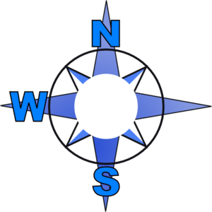 Compass Rose Minus East Clip Art