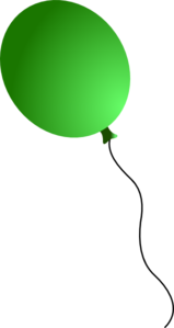 Green Balloon Clip Art at Clker.com - vector clip art ...
