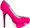 Hot Pink Stilleto Clip Art