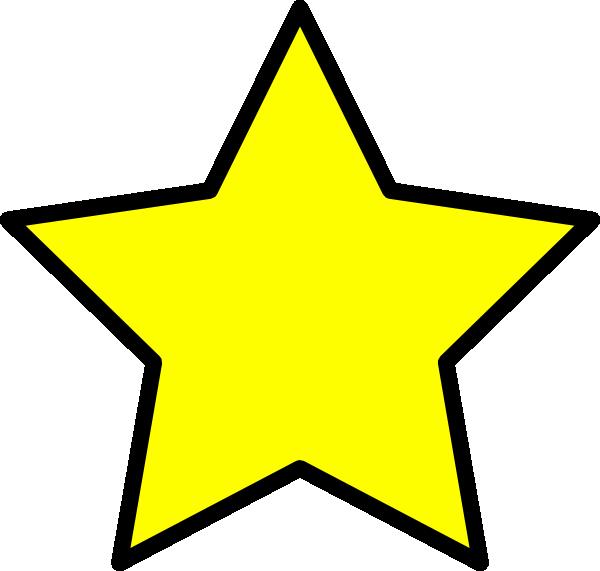 yellow star clip art at clker com vector clip art online royalty rh clker com hollywood star clip art free Hollywood Spotlight Clip Art