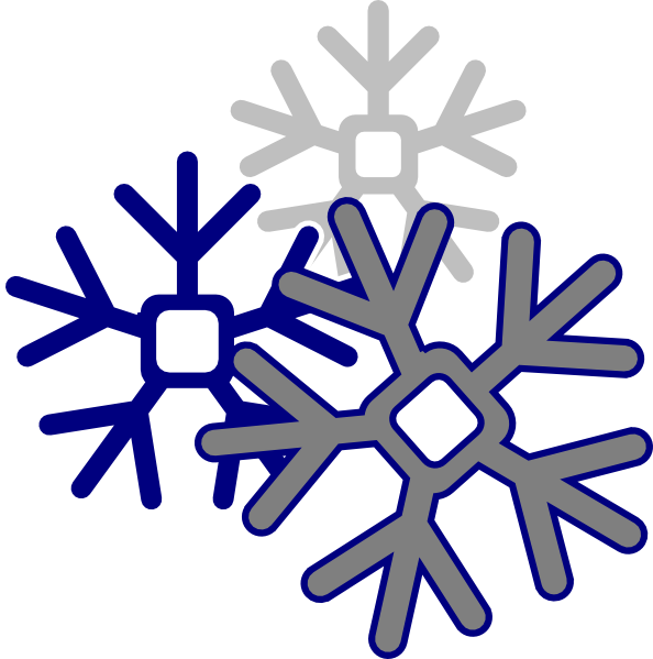 Edited Snowflake Clip Art at Clker.com - vector clip art ...