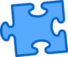 Blue On Blue Puzzle Piece Clip Art