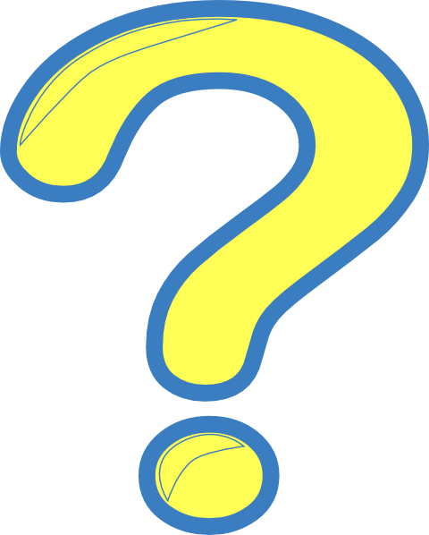 Yellow And Blue Question Mark Clip Art at Clker.com - vector clip art ... Yellow Question Marks