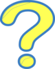 Yellow And Blue Question Mark Clip Art