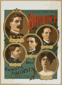 Brooke And His Famous Soloists All Of Whom Will Appear At Every Concert. Clip Art