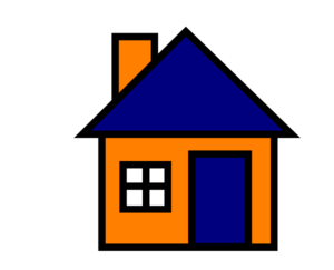 Orange And Blue House Clip Art
