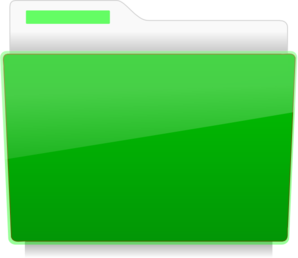 Folder - File Green Clip Art