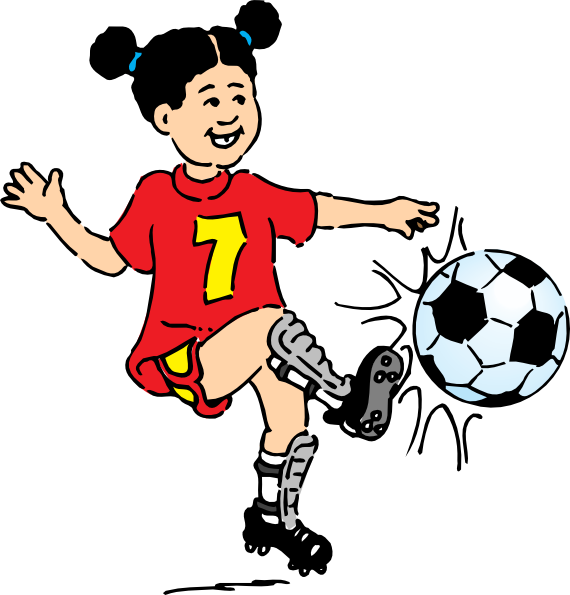 Football Girl Clip Art at Clker.com - vector clip art ...