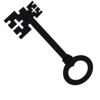 Single Key Clip Art