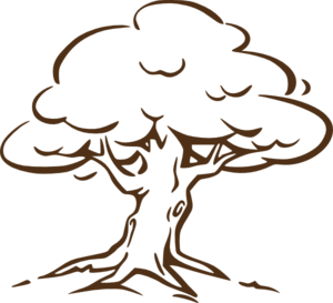 Brown Oak Tree Clip Art
