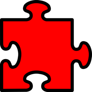 Red Puzzle Piece Clip Art at Clker.com - vector clip art ...