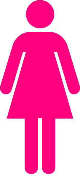 Ladies bathroom symbol hot pink clip art at clkercom for Girls bathroom symbol