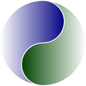 Extra Large Of Yin Yang Blue & Green Clip Art