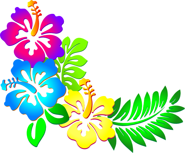 Hibiscus corner clip art at vector clip art online royalty free public domain - Hibiscus images download ...