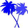 Palm Trees-blue Clip Art