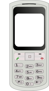 Blank Cell Phone Vector Clip Art