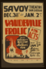 Vaudeville Frolic  15 Acts : Gala Midnight Show New Year S Eve. Clip Art