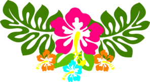 Multi Hibiscus Arc Clip Art