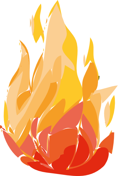 Flame burning. Fire flames clip art