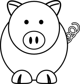 White Cartoon Pig Clip Art