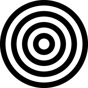 Black And White Target  Clip Art