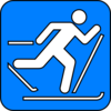 Cross Country Skiing Symbol Clip Art
